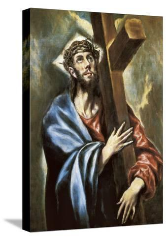 Christ Clasping the Cross-El Greco-Stretched Canvas Print