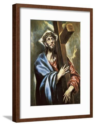 Christ Clasping the Cross-El Greco-Framed Art Print