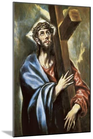 Christ Clasping the Cross-El Greco-Mounted Art Print