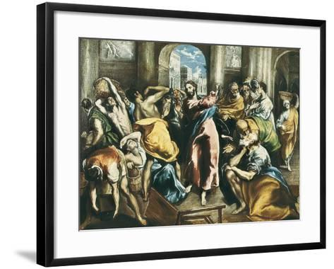Christ Driving the Traders from the Temple-El Greco-Framed Art Print