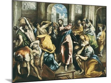 Christ Driving the Traders from the Temple-El Greco-Mounted Art Print