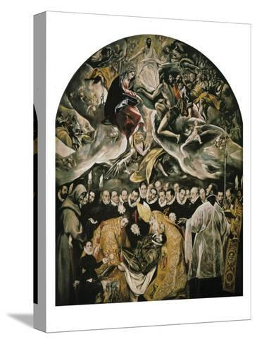 The Burial of Count Orgaz-El Greco-Stretched Canvas Print