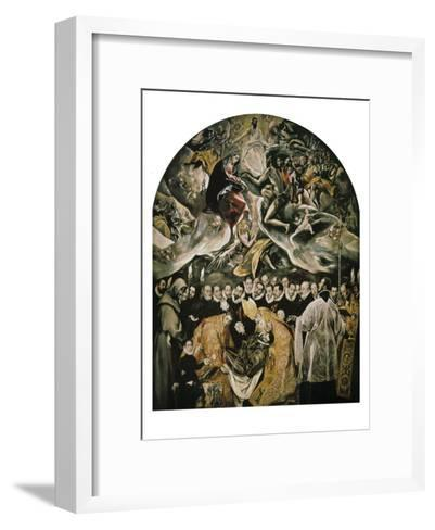 The Burial of Count Orgaz-El Greco-Framed Art Print