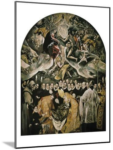 The Burial of Count Orgaz-El Greco-Mounted Art Print