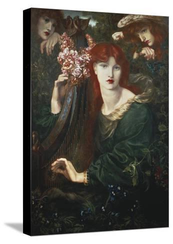 La Ghirlandata-Dante Gabriel Rossetti-Stretched Canvas Print