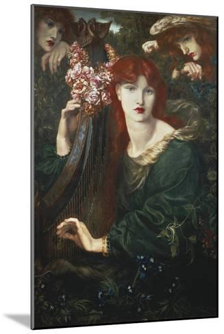 La Ghirlandata-Dante Gabriel Rossetti-Mounted Art Print