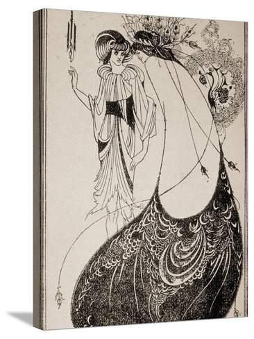 Salome-Aubrey Beardsley-Stretched Canvas Print