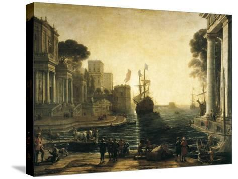 Ulysses Returning Chryseis to Her Father-Claude Lorraine-Stretched Canvas Print
