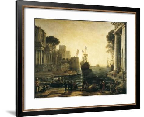 Ulysses Returning Chryseis to Her Father-Claude Lorraine-Framed Art Print