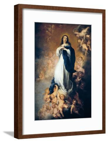 """The Immaculate Conception """"Of Soult""""-Bartolome Esteban Murillo-Framed Art Print"""