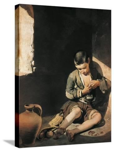 The Young Beggar-Bartolome Esteban Murillo-Stretched Canvas Print