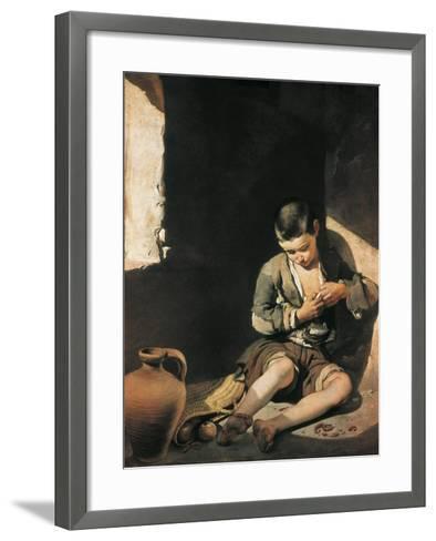The Young Beggar-Bartolome Esteban Murillo-Framed Art Print