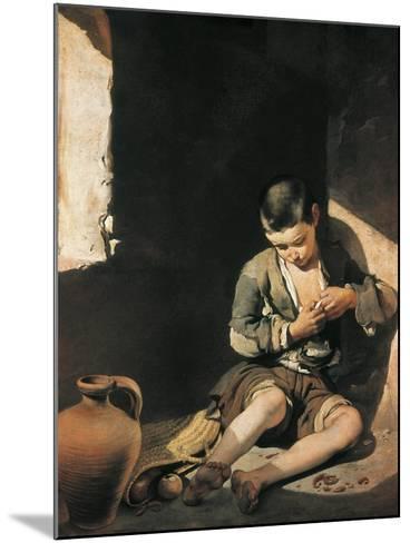 The Young Beggar-Bartolome Esteban Murillo-Mounted Art Print