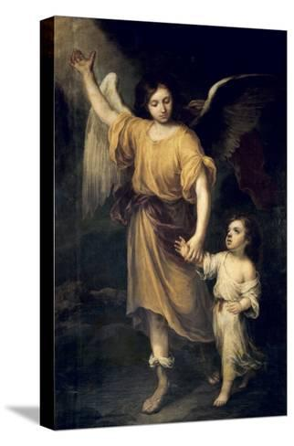 The Guardian Angel-Bartolome Esteban Murillo-Stretched Canvas Print