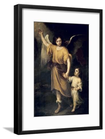 The Guardian Angel-Bartolome Esteban Murillo-Framed Art Print