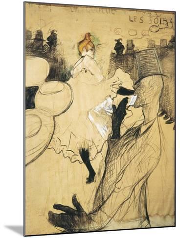 """La Goulue and Valentin Le Desosse at the """"Moulin Rouge""""-Henri de Toulouse-Lautrec-Mounted Art Print"""