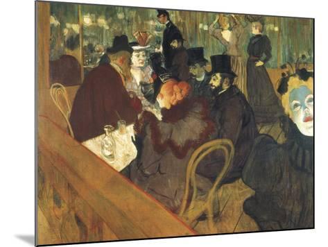 At the Moulin Rouge-Henri de Toulouse-Lautrec-Mounted Art Print