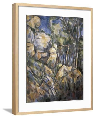 Rocks Near the Caves Below the Chateau Noir-Paul C?zanne-Framed Art Print