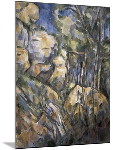 Rocks Near the Caves Below the Chateau Noir-Paul C?zanne-Mounted Art Print
