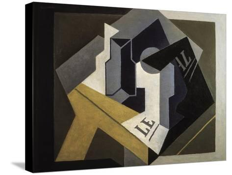 Fruit Bowl and Newspaper-Juan Gris-Stretched Canvas Print