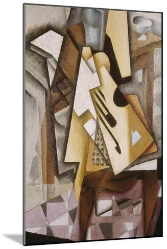 Guitar on a Chair-Juan Gris-Mounted Art Print
