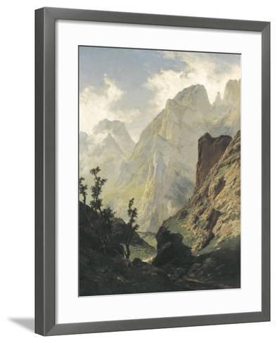 Picos De Europa-Carlos de Haes-Framed Art Print