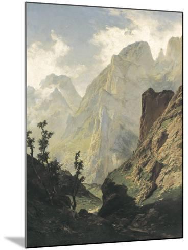 Picos De Europa-Carlos de Haes-Mounted Art Print