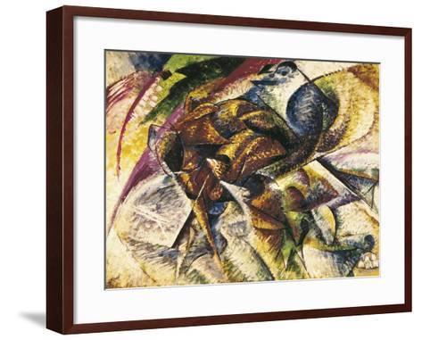 Dynamism of a Cyclist-Umberto Boccioni-Framed Art Print