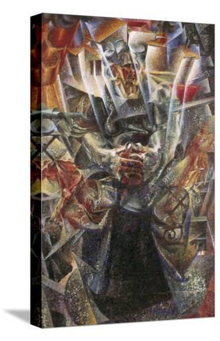 Materia-Umberto Boccioni-Stretched Canvas Print