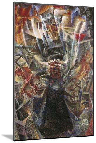 Materia-Umberto Boccioni-Mounted Art Print