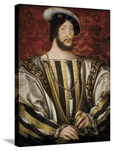Portrait of François I, King of France-Jean Clouet-Stretched Canvas Print