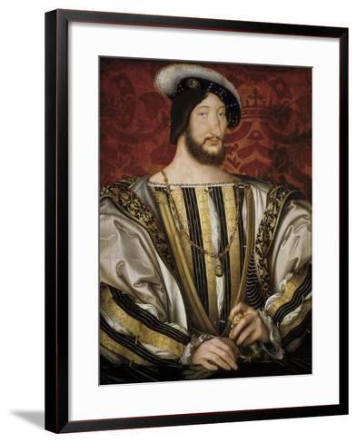 Portrait of François I, King of France-Jean Clouet-Framed Art Print