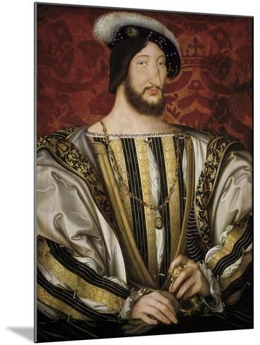 Portrait of François I, King of France-Jean Clouet-Mounted Art Print
