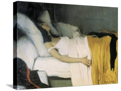 The Morphine-Santiago Rusinol-Stretched Canvas Print