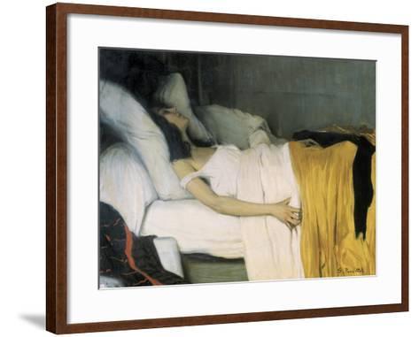 The Morphine-Santiago Rusinol-Framed Art Print