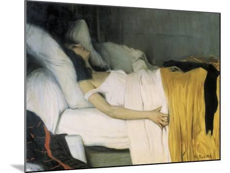 The Morphine-Santiago Rusinol-Mounted Art Print