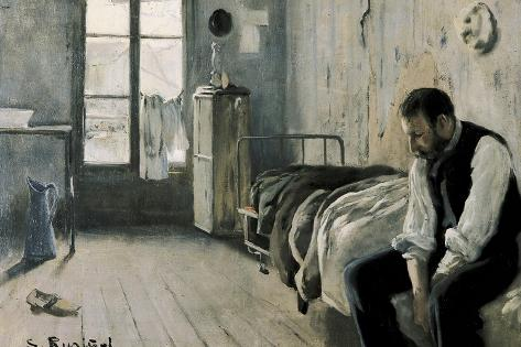 My Room in Paris-Santiago Rusinol-Stretched Canvas Print