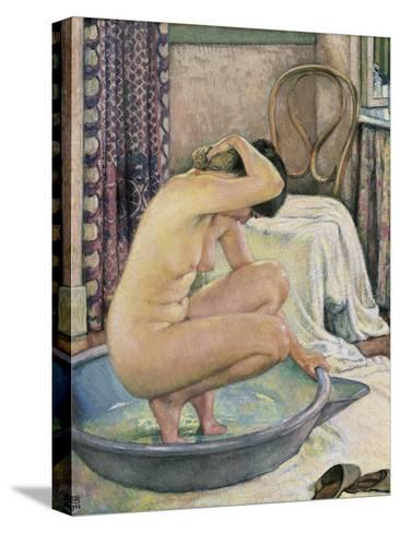 Nude in the Bath-Th?o van Rysselberghe-Stretched Canvas Print