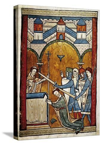 Scene from the Murder of Saint Thomas Becket-John of Salisbury-Stretched Canvas Print