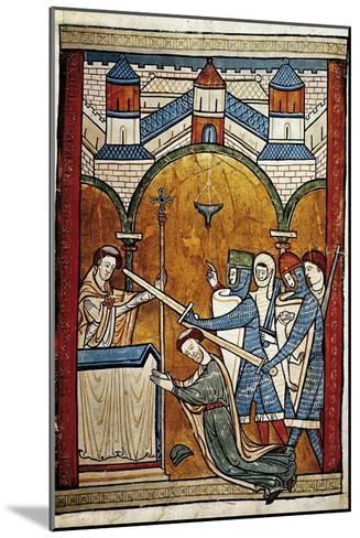 Scene from the Murder of Saint Thomas Becket-John of Salisbury-Mounted Art Print