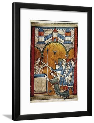 Scene from the Murder of Saint Thomas Becket-John of Salisbury-Framed Art Print