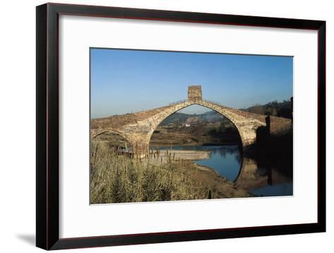 Pont Del Diable (Evil's Bridge) over the Llobregat River, with Gothic Central Arch on a Roman Basis--Framed Art Print