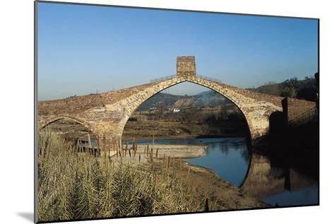 Pont Del Diable (Evil's Bridge) over the Llobregat River, with Gothic Central Arch on a Roman Basis--Mounted Art Print