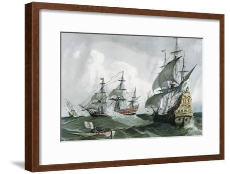Spanish Galleons and Vessels (17th C)--Framed Art Print