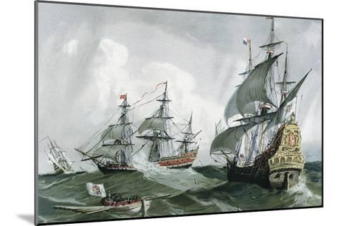 Spanish Galleons and Vessels (17th C)--Mounted Art Print