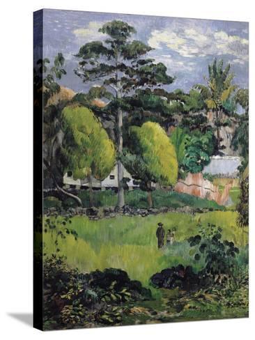 Landscape-Paul Gauguin-Stretched Canvas Print