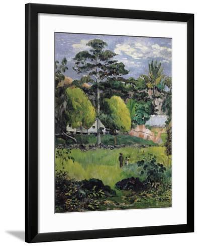 Landscape-Paul Gauguin-Framed Art Print