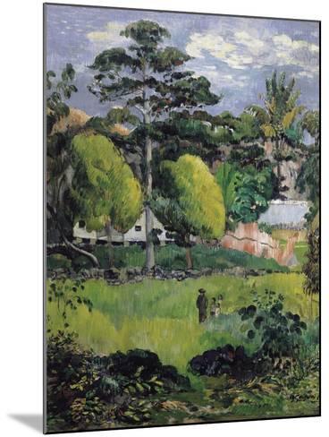 Landscape-Paul Gauguin-Mounted Art Print