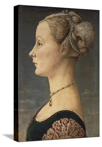 Portrait of a Lady-Antonio Pollaiolo-Stretched Canvas Print