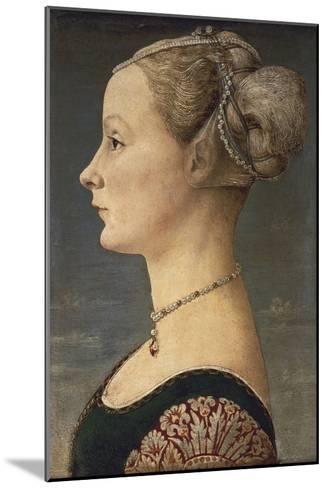 Portrait of a Lady-Antonio Pollaiolo-Mounted Art Print